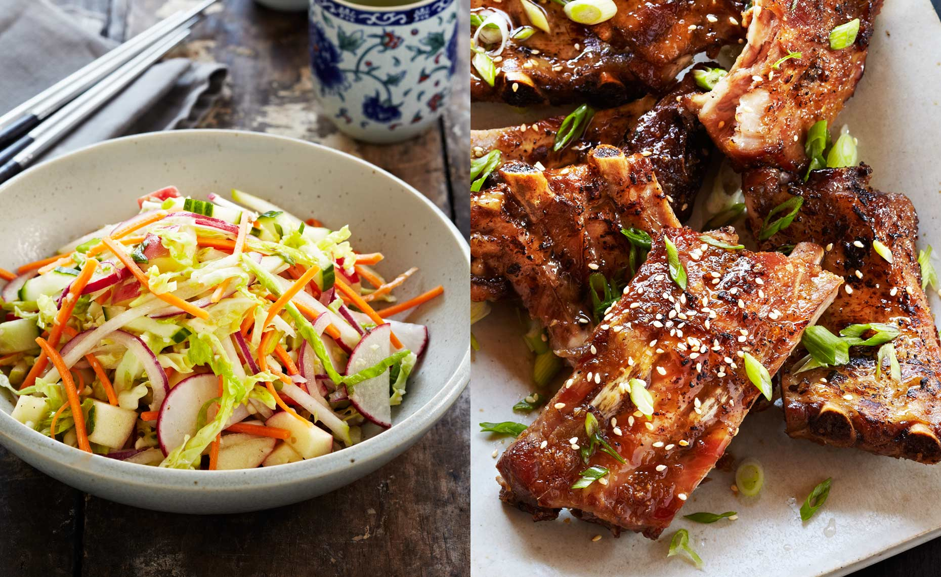 Korean Ribs & Slaw