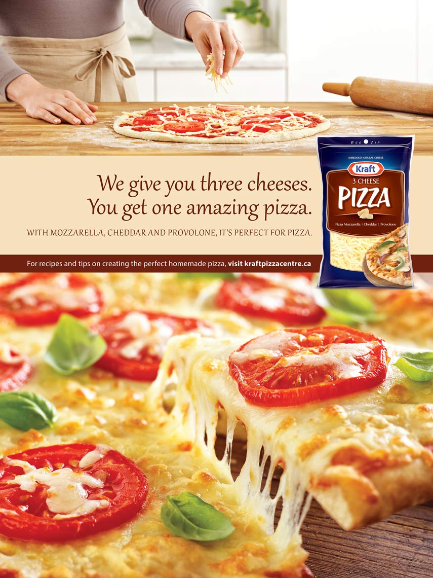 Kraft Pizza Shreds Ad