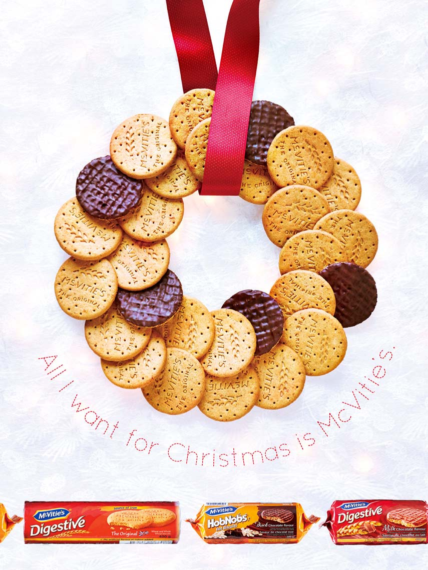 McVities Wreath Ad