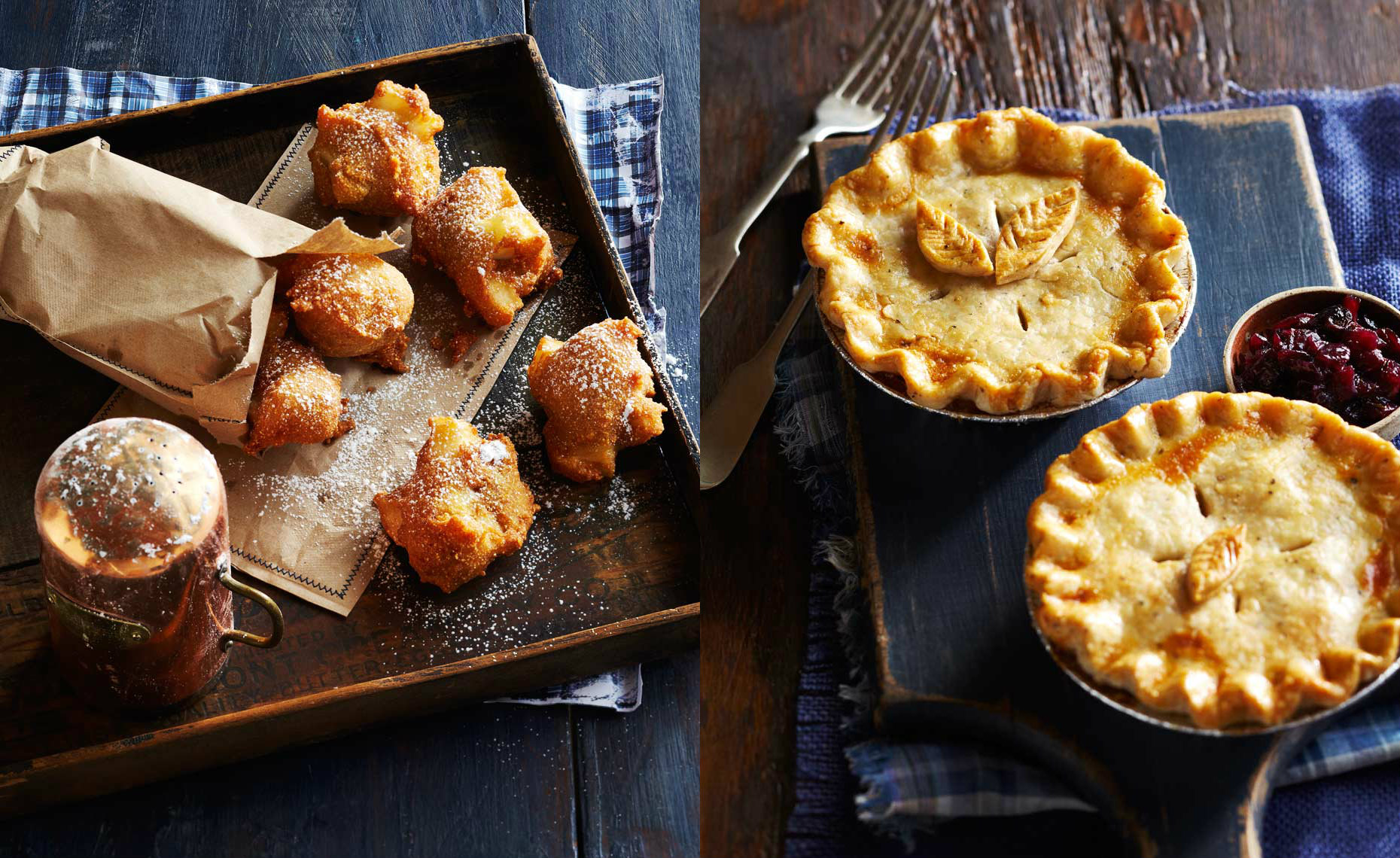 Apple Fritters & Tourtiere Pies